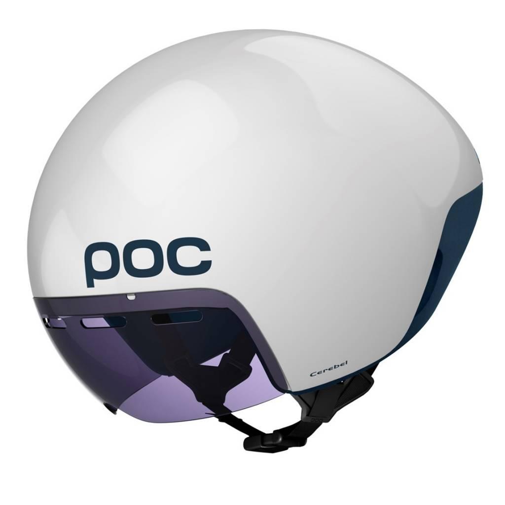POC Cerebel Raceday Helmet Hydrogen White MD