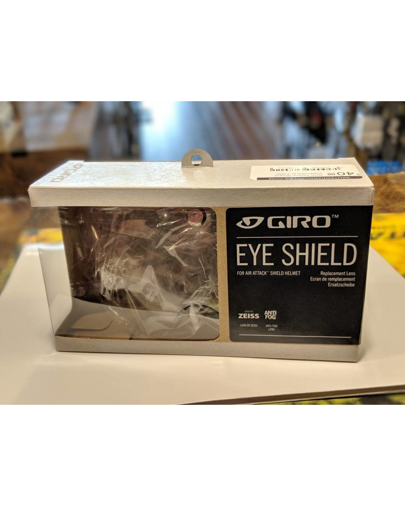 Giro Giro Attack Shield; Clear/Silver Flash