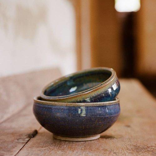 Blue/Violet/Tan Cereal Bowl