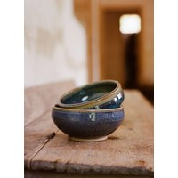 Blue/Gray/Black Cereal Bowl