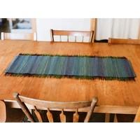 Broomcorn Table Runner, Blue/Green