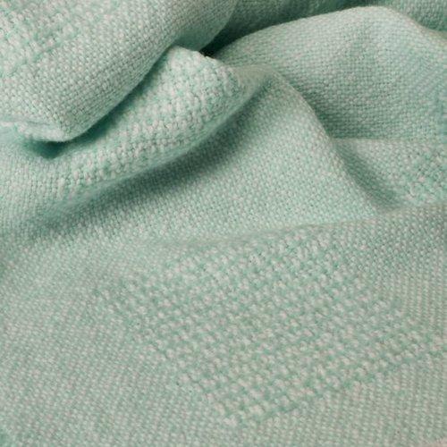 Block Pattern Baby Blankets Aqua