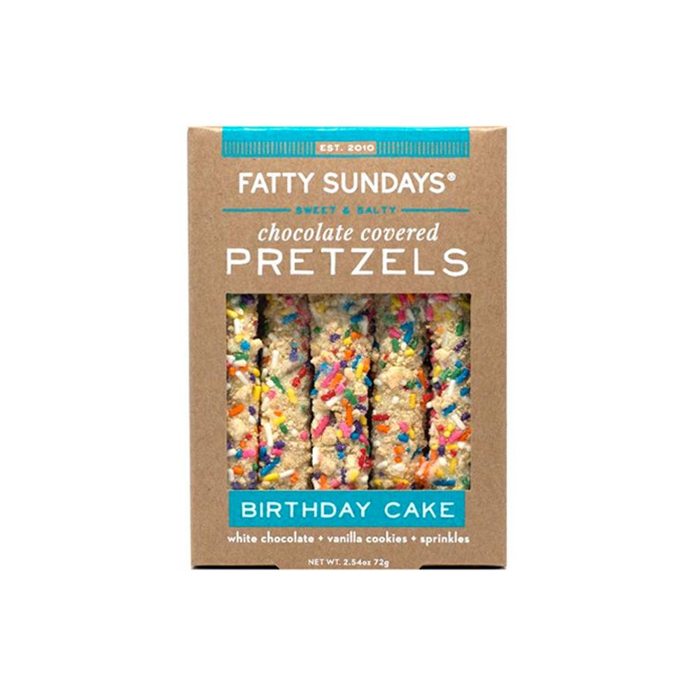 Birthday Cake White Chocolate Covered Pretzels
