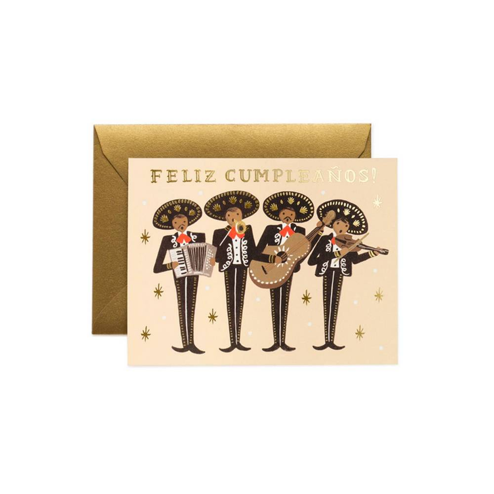 Rifle Paper Co Mariachi Feliz Cumpleanos Birthday Card Prim