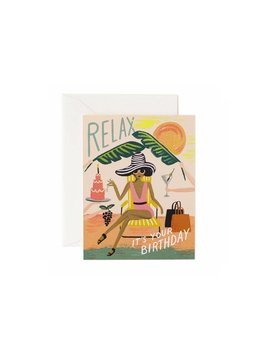 Rifle Paper Co : Relax Birthday Card