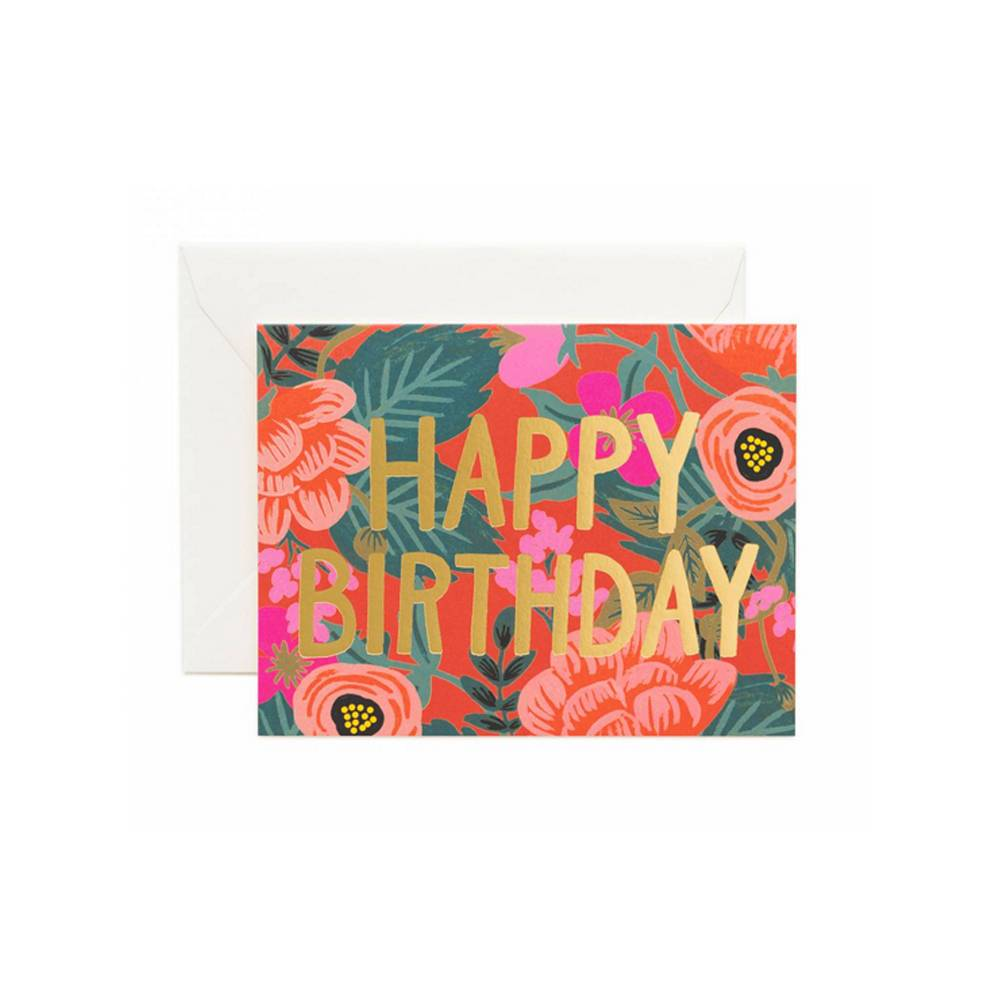 Rifle Paper Co : Poppy Birthday Card
