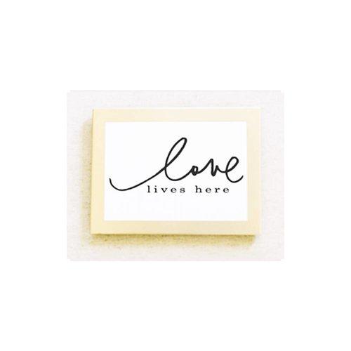 5x7 Card / Print : Love Lives Here