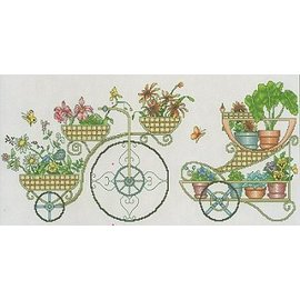 Vickery Collection Flower Cart Counted Cross Sttich