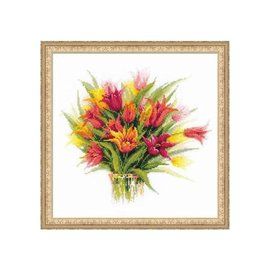 RIOLIS Riolis Cross Stitch Kit  Tulips in Vase 1293