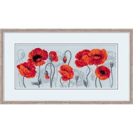 RIOLIS Riolis Cross Stitch Kit  100/037 Scarlet Poppies