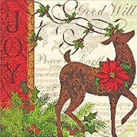 Dimensions Gold Collection Cross Stitch Kit Winter Reindeer 70-08851