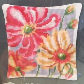 Bergere de France Cross Stitch Pillow Kit 670.77 Floral