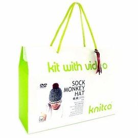 Sock Monkey Hat Knitting Kit
