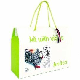 Sock Monkey Scarf Knitting Kit