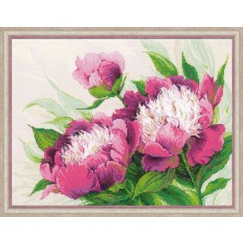 RIOLIS Riolis Pink Peonies Cross Stitch Kit 100/039