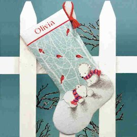 Dimensions Snow Bear Stocking Cross Stitch Kit 70-08902