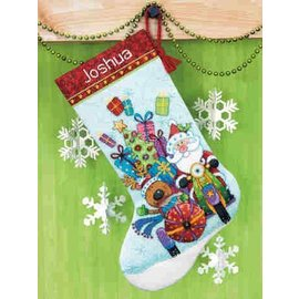 Dimensions Santa's Sidecar Stocking Cross Stitch Kit 70-08867
