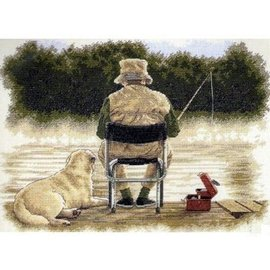 Fishing buddies Counted Cross Stitch Kit