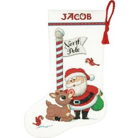 Dimensions Rudolph Cross Stitch Stocking Kit 70-08959
