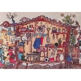 Cut Thru Garden shed Counted Cross Stitch Chart