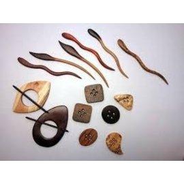 Nature's Wonder Wooden Shawl Pins