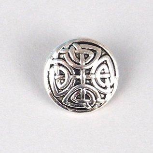 5227251 Button Antique silver 17mm