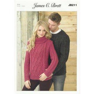 James C Brett Pattern Leaflet JB211
