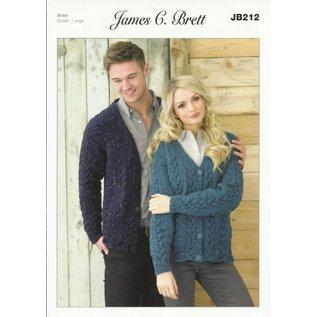 James C Brett Pattern Leaflet JB212