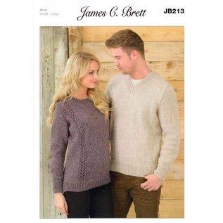 James C Brett Pattern Leaflet JB213