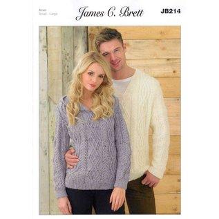 James C Brett Pattern Leaflet JB214