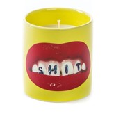 "Seletti Candle in Jar of Porcelain ""Teeth"" -- Essence ""Carnal"""