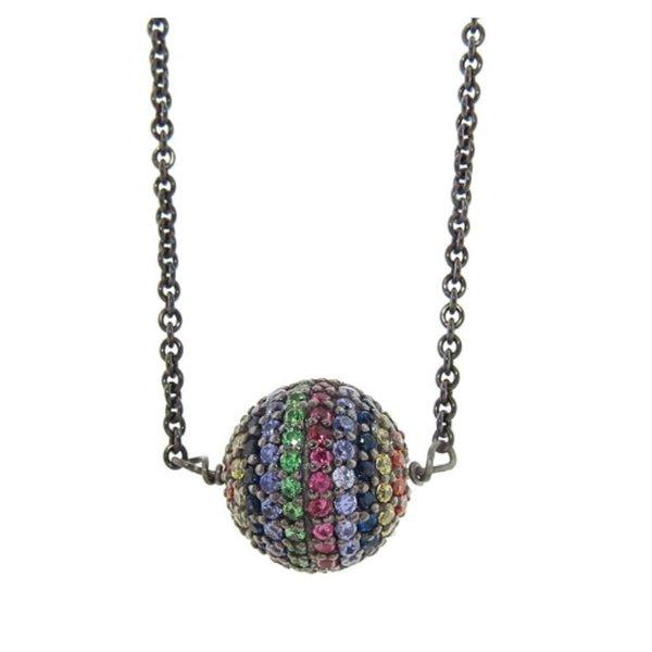 Ileana Makri Rainbow Planet Bead Necklace