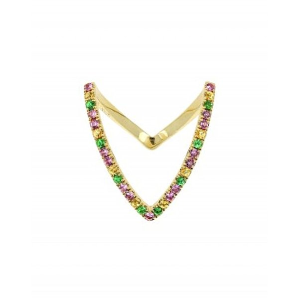 "Yvonne Leon ""Viviane"" Multicolor Sapphire Ring in 18kt Yellow Gold"