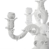 """Seletti """"Burlesque - The Wise Chimpanzee"""" 5 Arms White Candle Holder"""