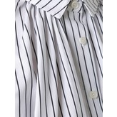 Tome Oversized Gathered Shirt (Striped Black/White)