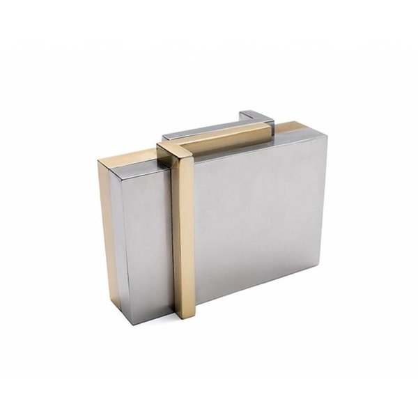 Nathalie Trad Astrid Brass and Stainless Steel Clutch