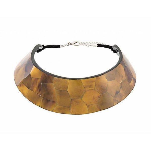 Nathalie Trad Mimas Tab Shell Choker Necklace
