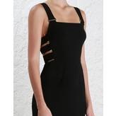 Zimmermann Stretch Crepe Buckle Dress in Black
