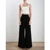 Zimmermann Stretch Crepe Buckle Bodice in Pearl