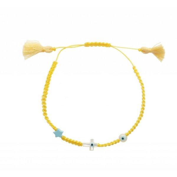 Ileana Makri Summer Cord Bracelet in Yellow