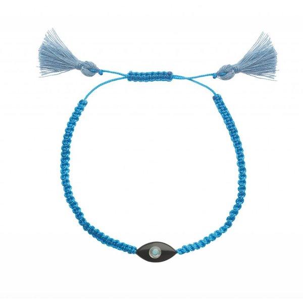 Ileana Makri Summer Cord Bracelet in Dark Sky Blue