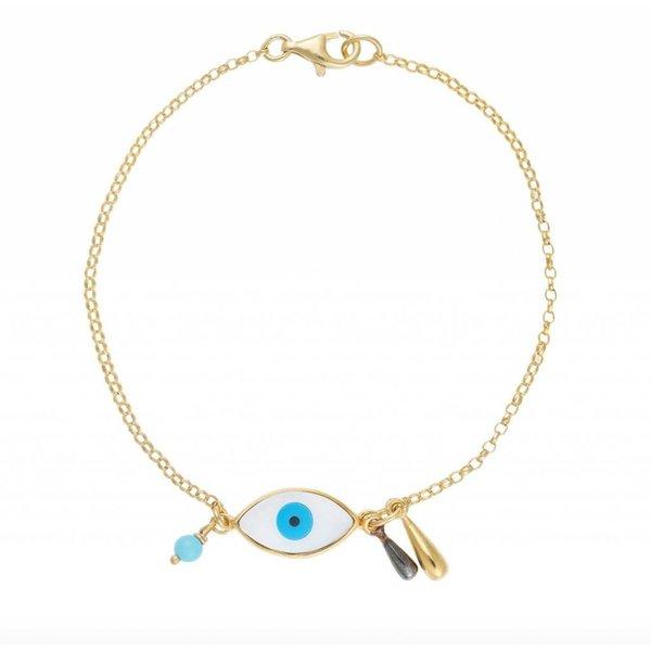 Ileana Makri Evil Eye Raindrop Bracelet