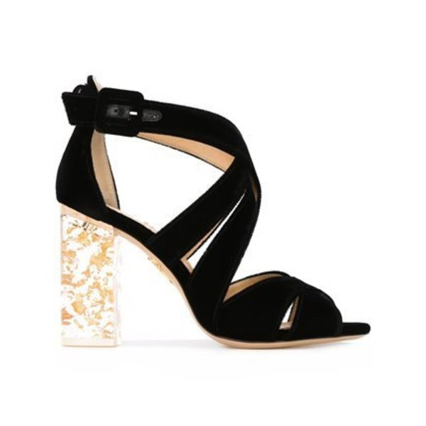 Charlotte Olympia Apollo 100 Velvet and Perspex Sandal