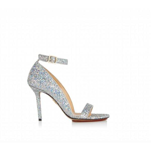Charlotte Olympia Talitha Glitter Heeled Sandals