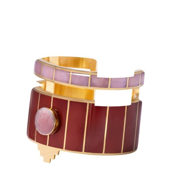 Monica Sordo Yma Cuff Bracelet in Red and Pink