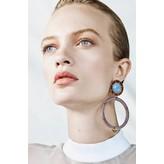 Monica Sordo Yma Earrings in White and Grey