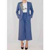 Tata Naka Jagged Edge Wool Trouser in Blue