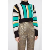 Tata Naka Cashmere Striped High Neck Jumper