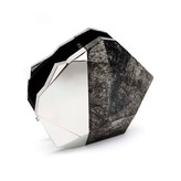Nathalie Trad Harvey Clutch in Black Tab Raw and Stainless Steel