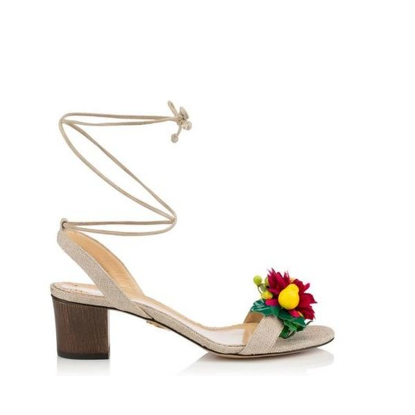 Charlotte Olympia Tropical Tara Sandals with Ankle Tie